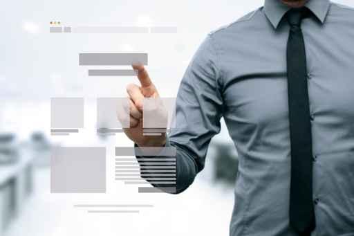 designer presenting website development wireframe